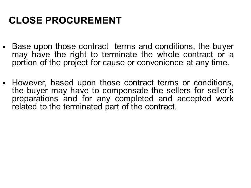 CLOSE PROCUREMENT