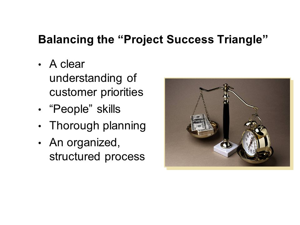 Balancing the Project Success Triangle