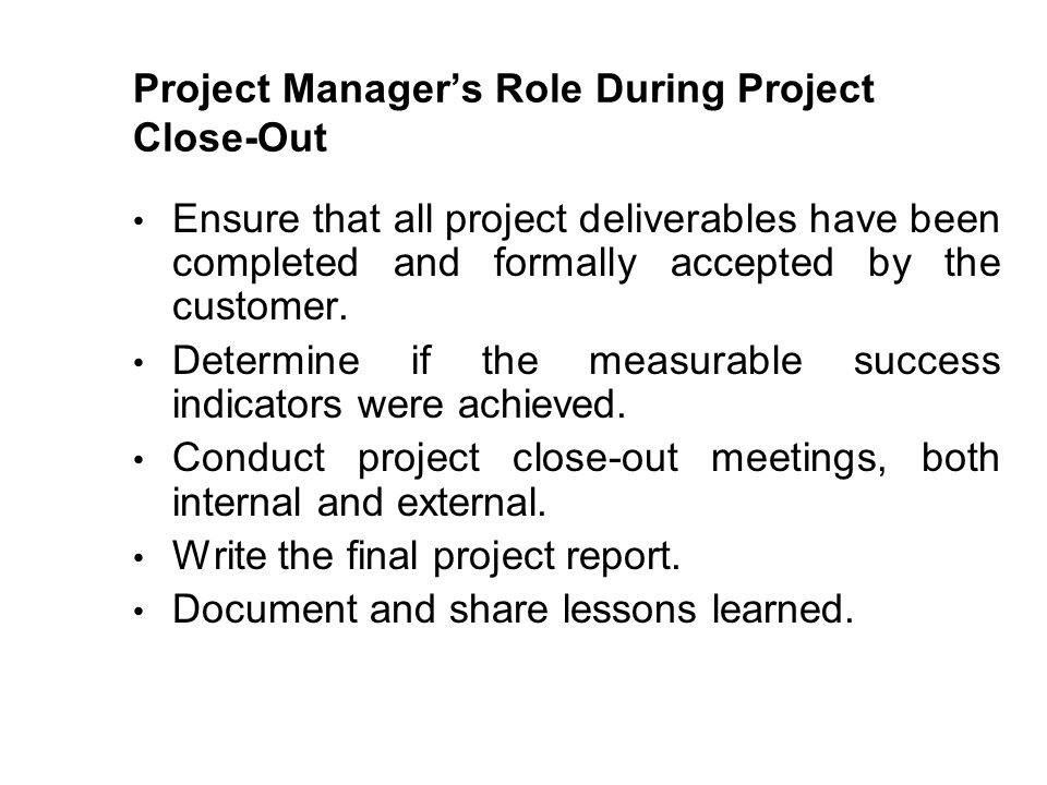 What Are the Most Important Project Closure Activities?
