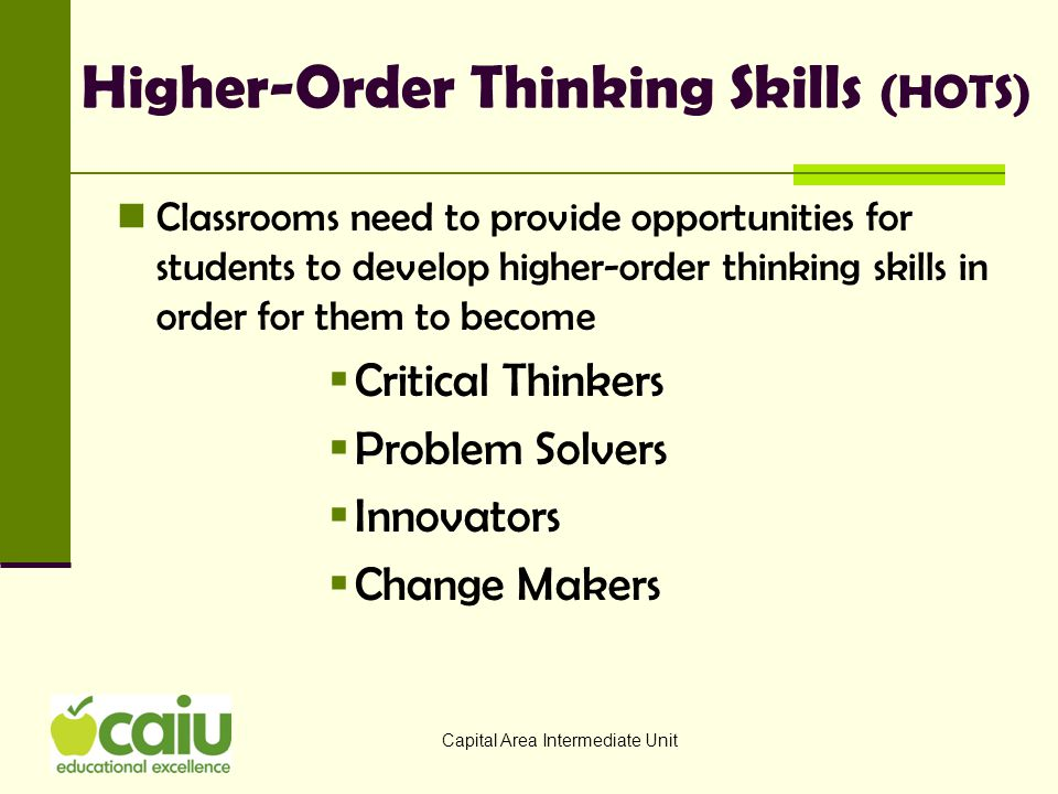 Higher-Order Thinking Skills (HOTS)