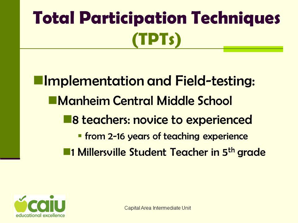 Total Participation Techniques (TPTs)