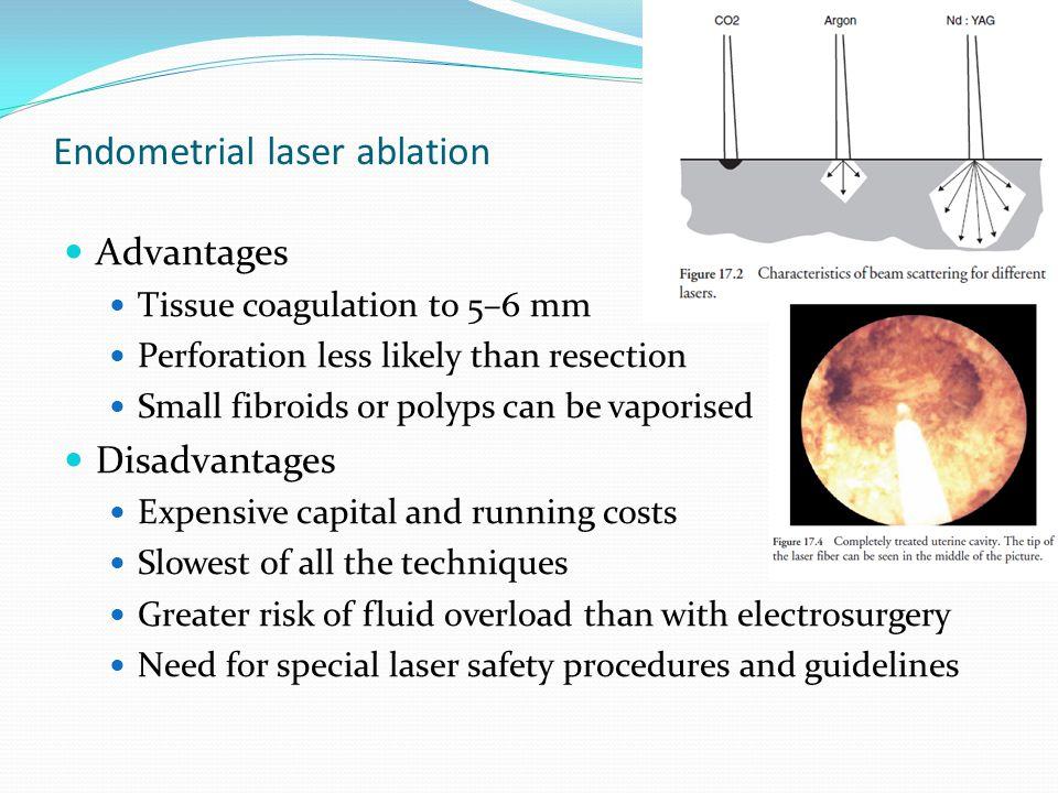 Endometrial laser ablation