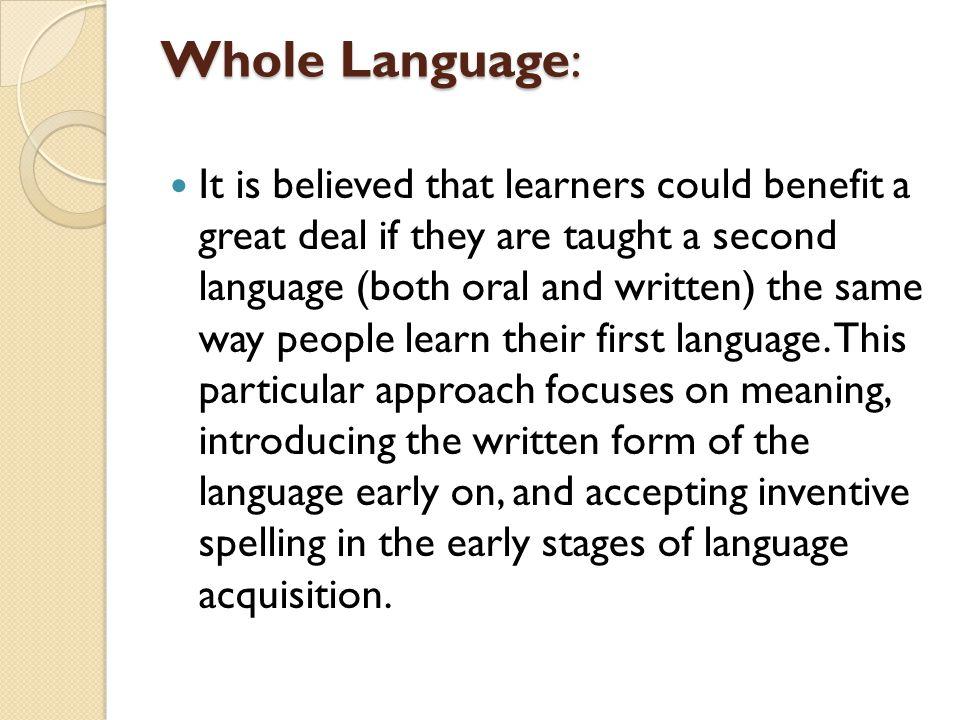 Whole Language: