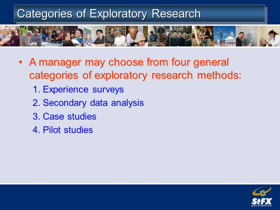 Categories of Exploratory Research