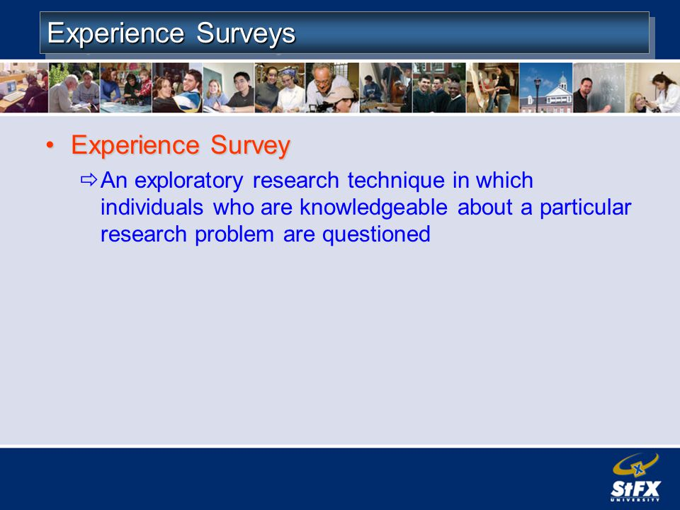 Experience Surveys Experience Survey