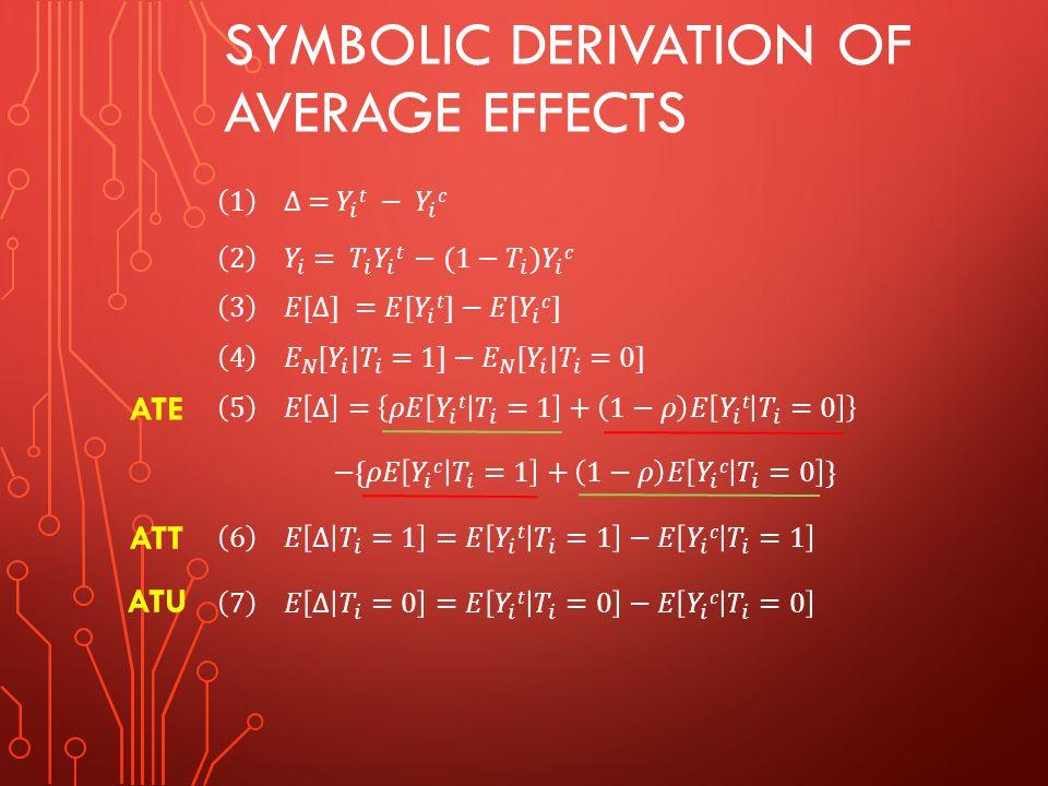 Symbolic derivation of average effects