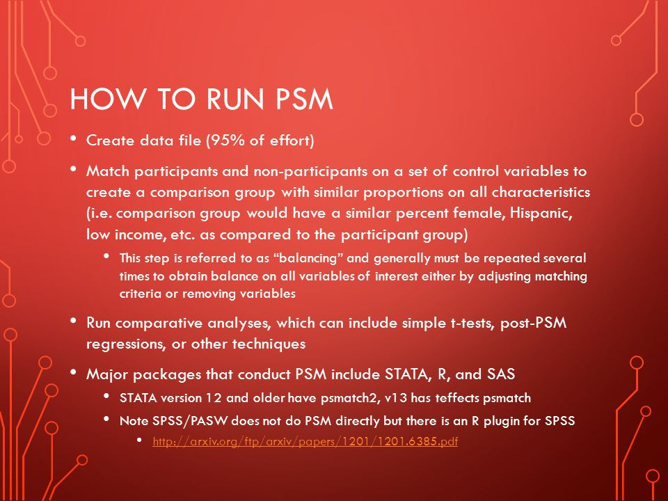 How to run PSM Create data file (95% of effort)