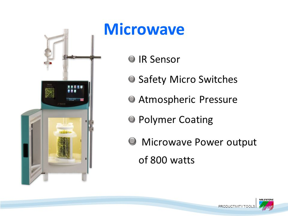 Microwave Microwave Power output of 800 watts IR Sensor