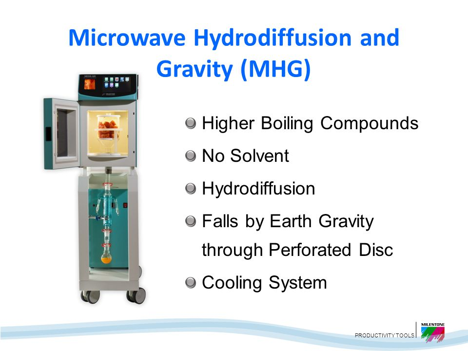 Microwave Hydrodiffusion and Gravity (MHG)