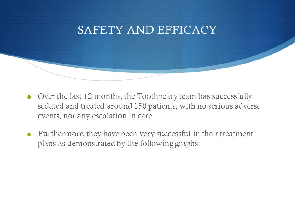 SAFETY AND EFFICACY