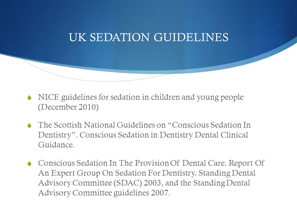 UK SEDATION GUIDELINES