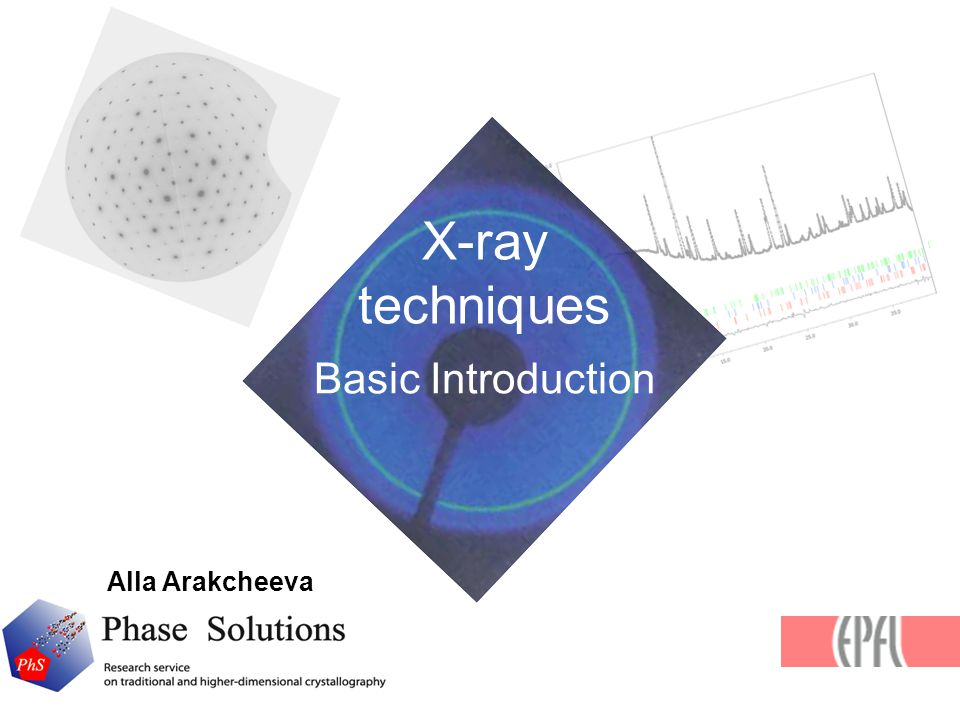 X-ray techniques Basic Introduction Alla Arakcheeva