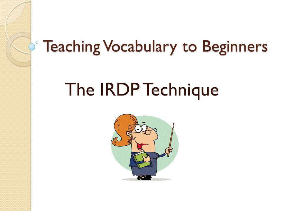 Teaching Vocabulary to Beginners