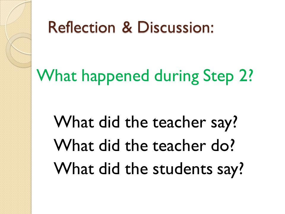 Reflection & Discussion: