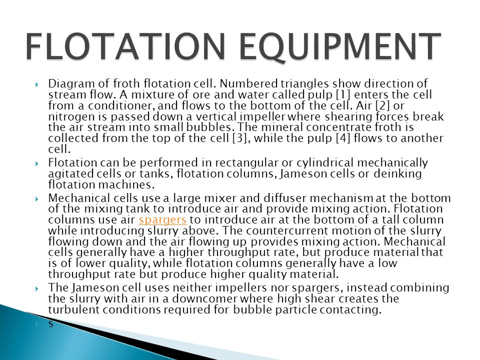 FLOTATION EQUIPMENT