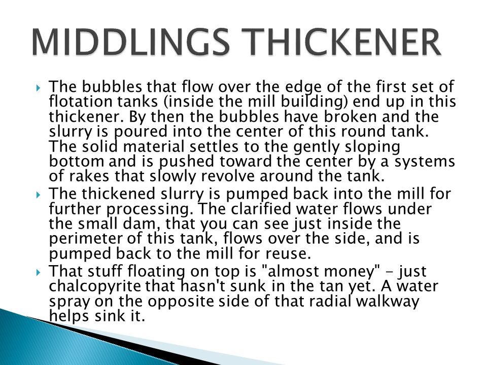 MIDDLINGS THICKENER