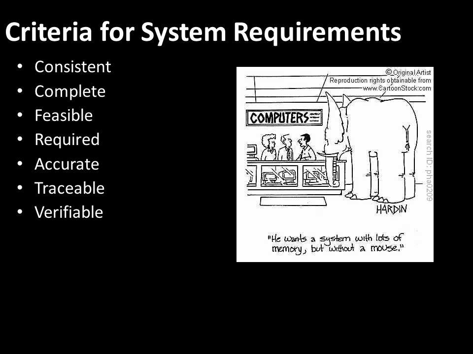 Criteria for System Requirements