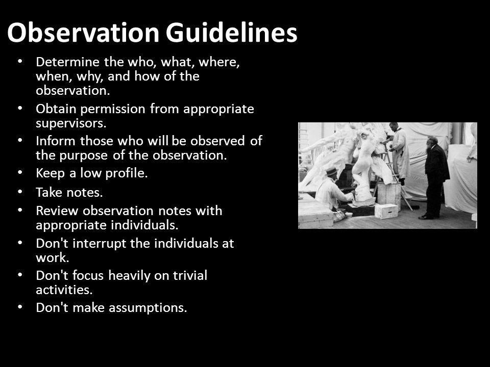 Observation Guidelines