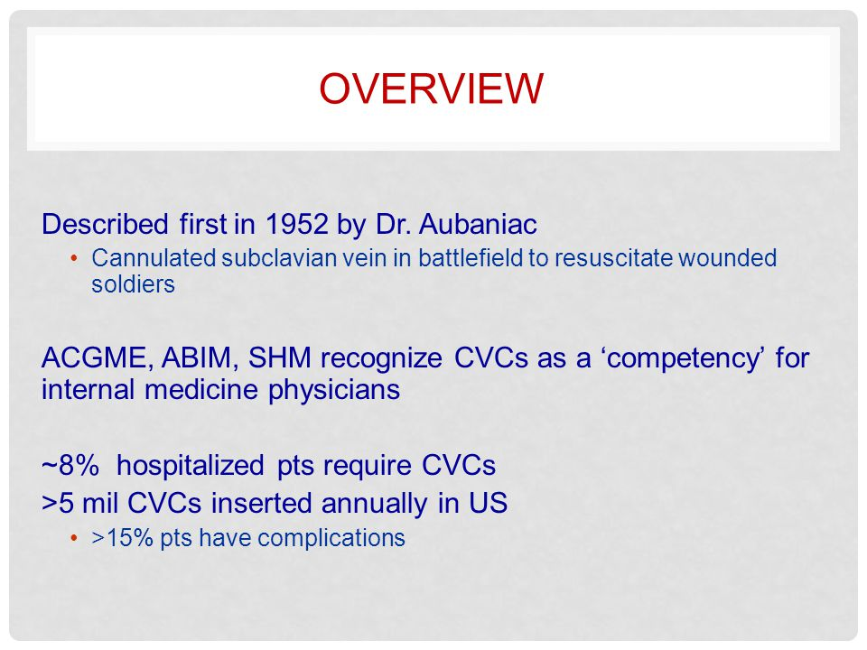 overview Described first in 1952 by Dr. Aubaniac