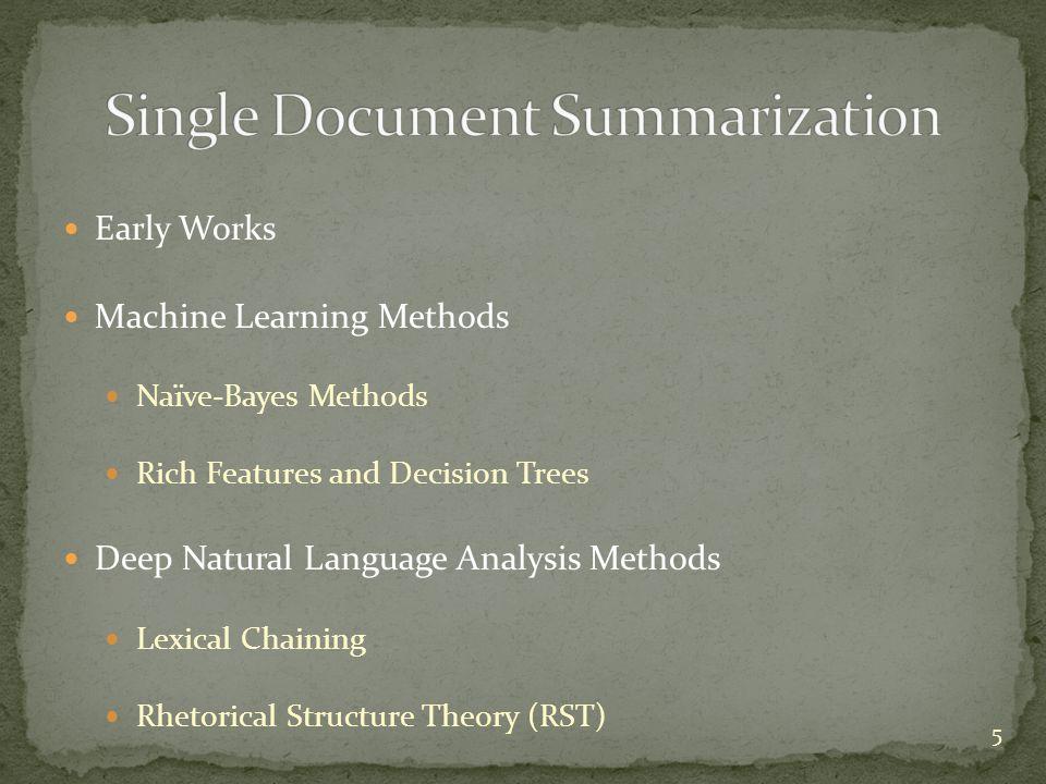 Single Document Summarization