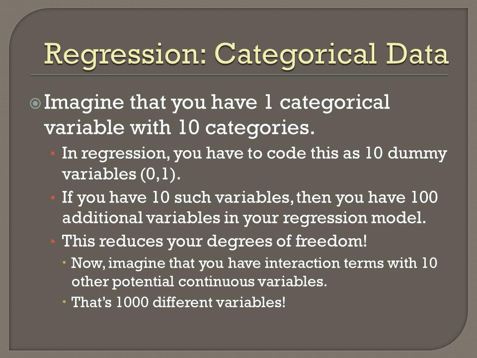 Regression: Categorical Data