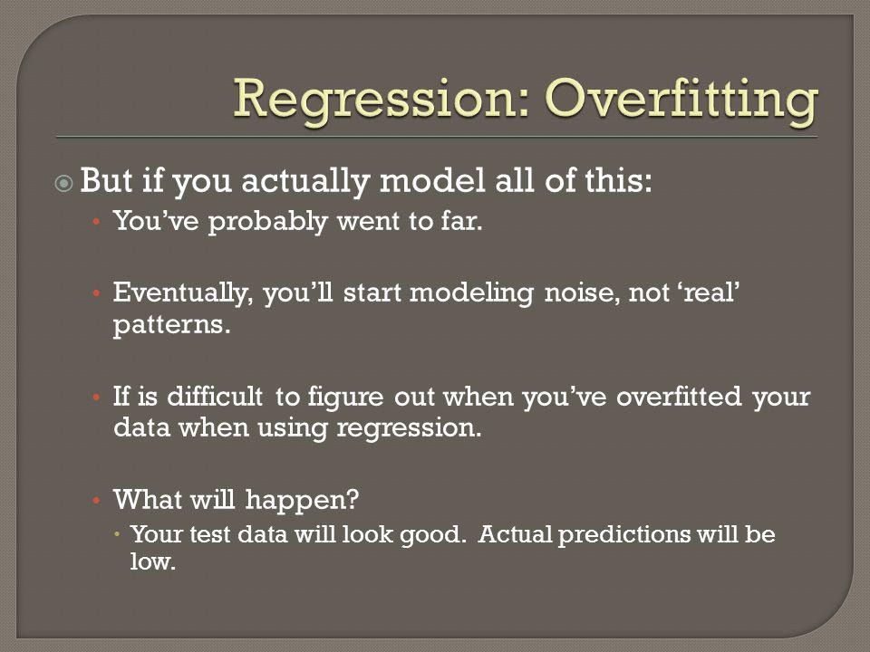 Regression: Overfitting