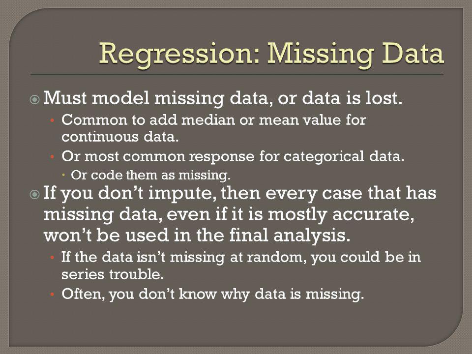 Regression: Missing Data