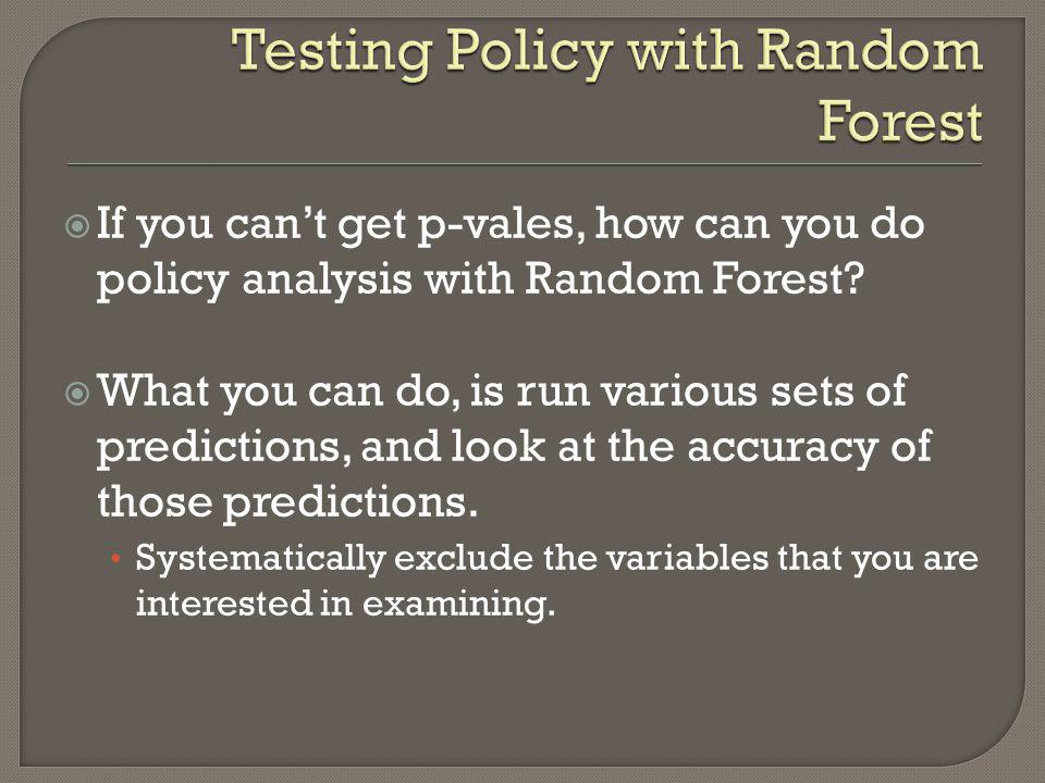 Testing Policy with Random Forest