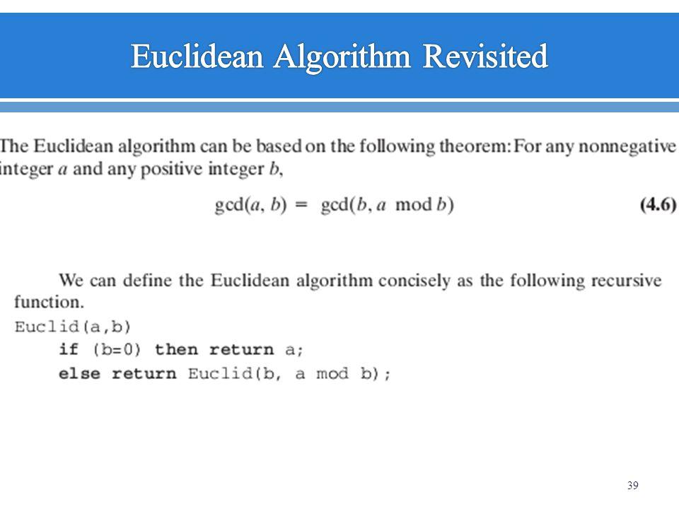 Euclidean Algorithm Revisited