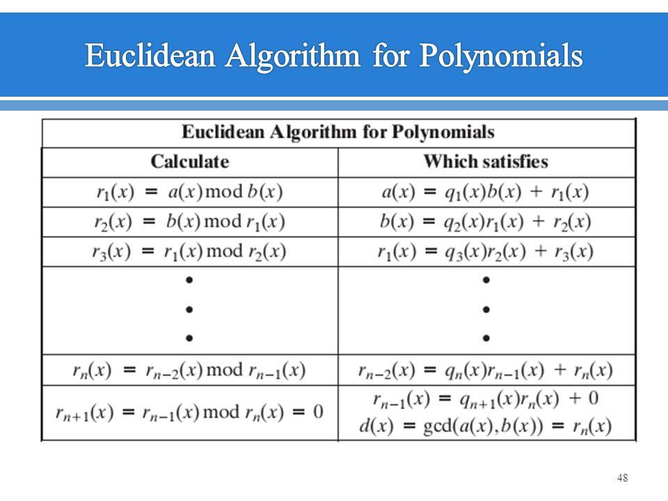 Euclidean Algorithm for Polynomials