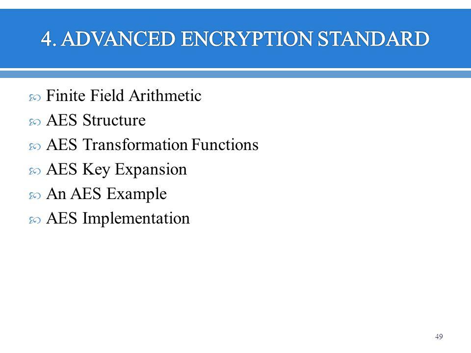 4. ADVANCED ENCRYPTION STANDARD