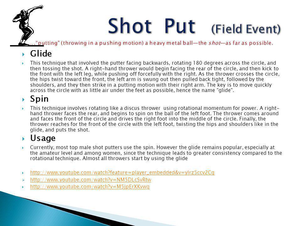 Shot Put (Field Event) …