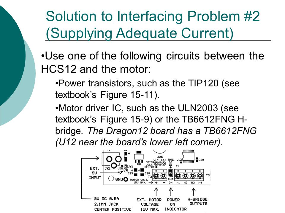Solution to Interfacing Problem #2 (Supplying Adequate Current)