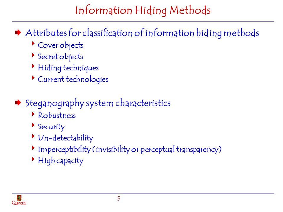 Information Hiding Methods