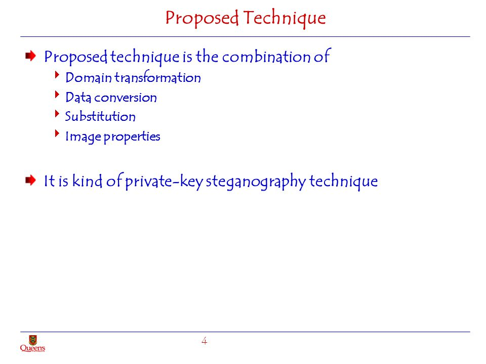 Proposed Technique Proposed technique is the combination of