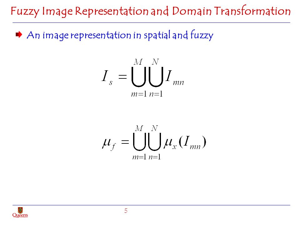 Fuzzy Image Representation and Domain Transformation