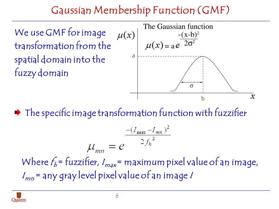 Gaussian Membership Function (GMF)