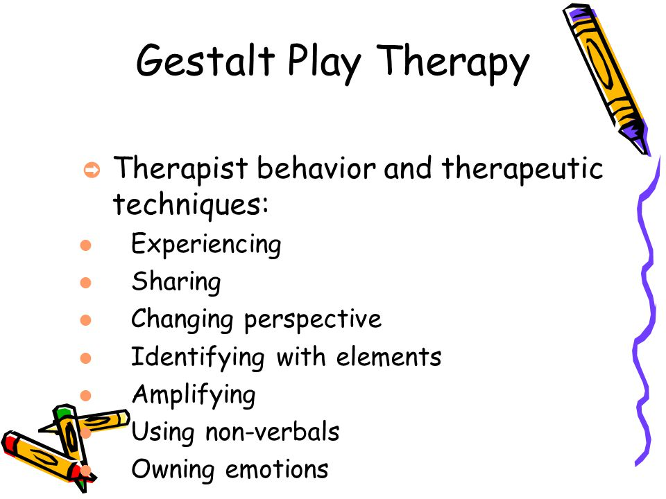 Gestalt Play Therapy Therapist behavior and therapeutic techniques: