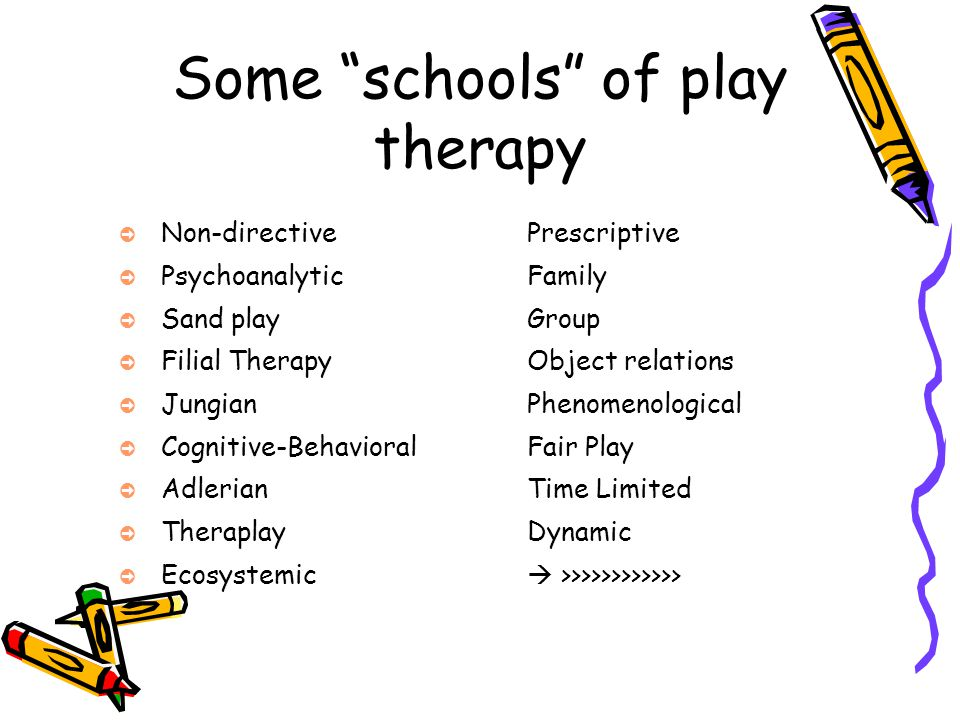 Some schools of play therapy