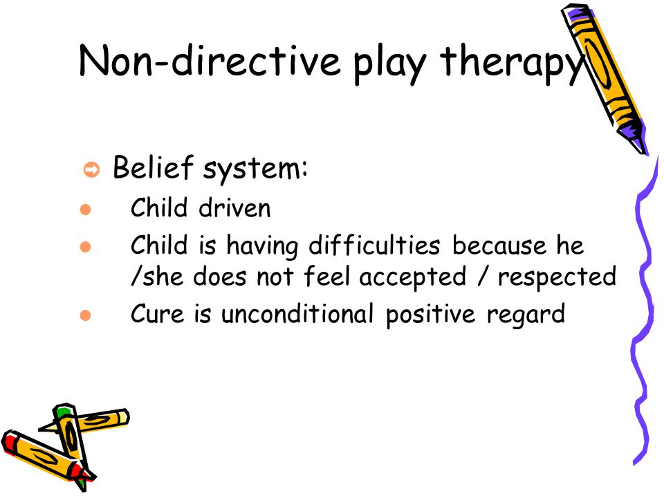 Non-directive play therapy