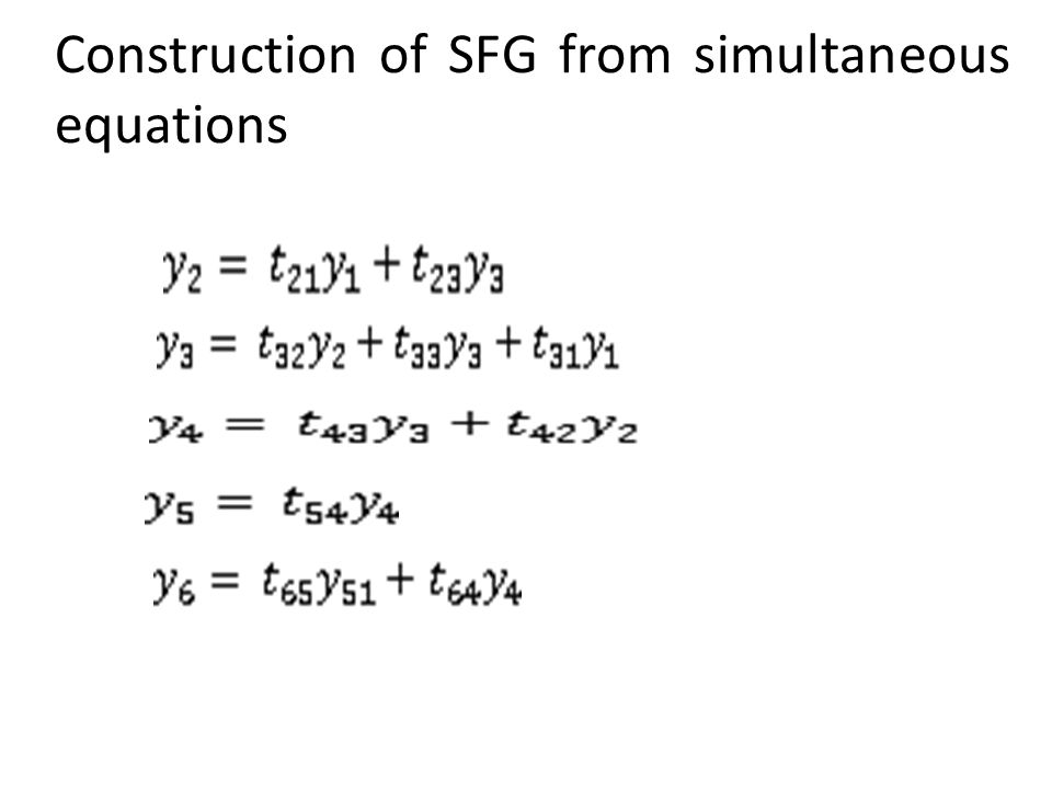 Construction of SFG from simultaneous equations