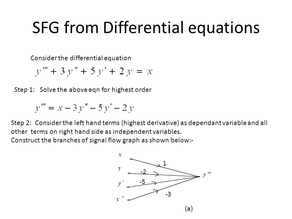 SFG from Differential equations