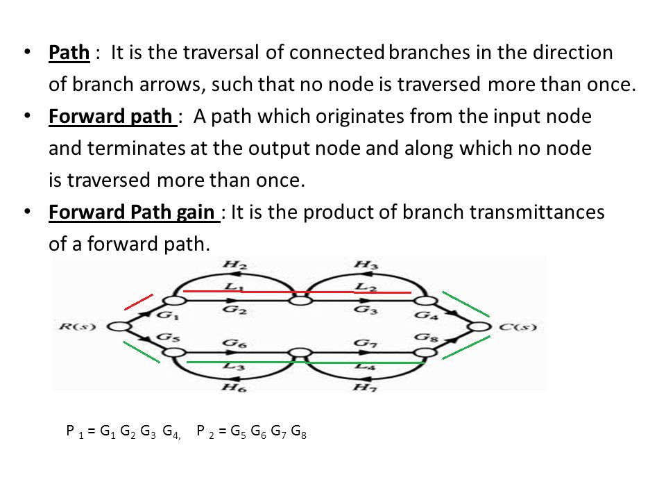 Path : It is the traversal of connected branches in the direction