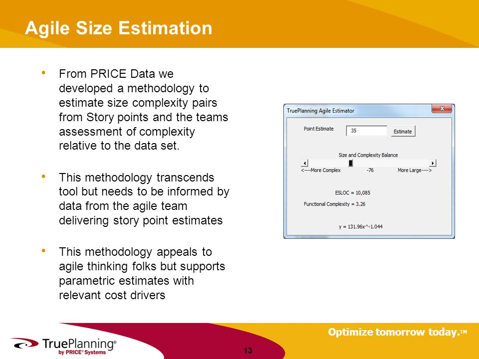 Agile Size Estimation