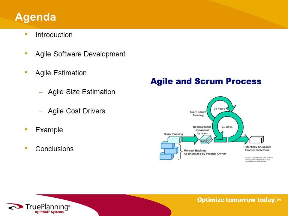 Agenda Introduction Agile Software Development Agile Estimation