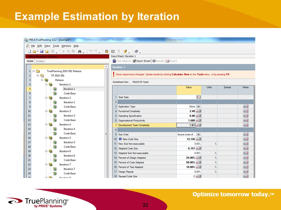 Example Estimation by Iteration