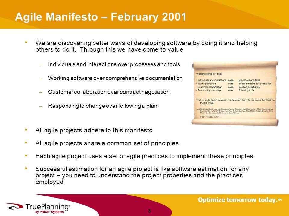 Agile Manifesto – February 2001