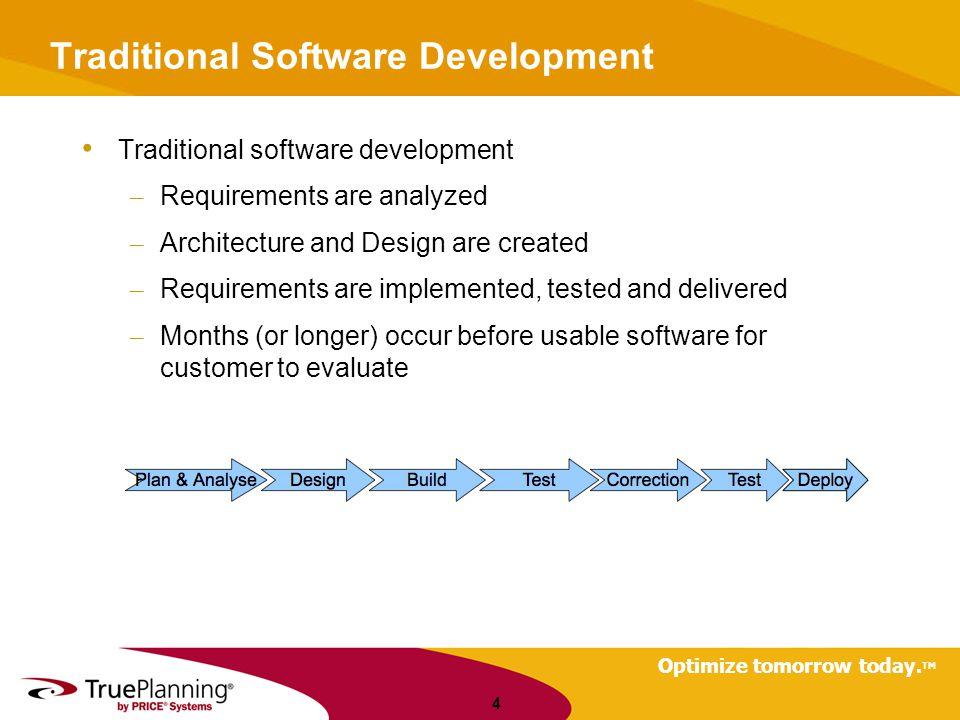 Traditional Software Development