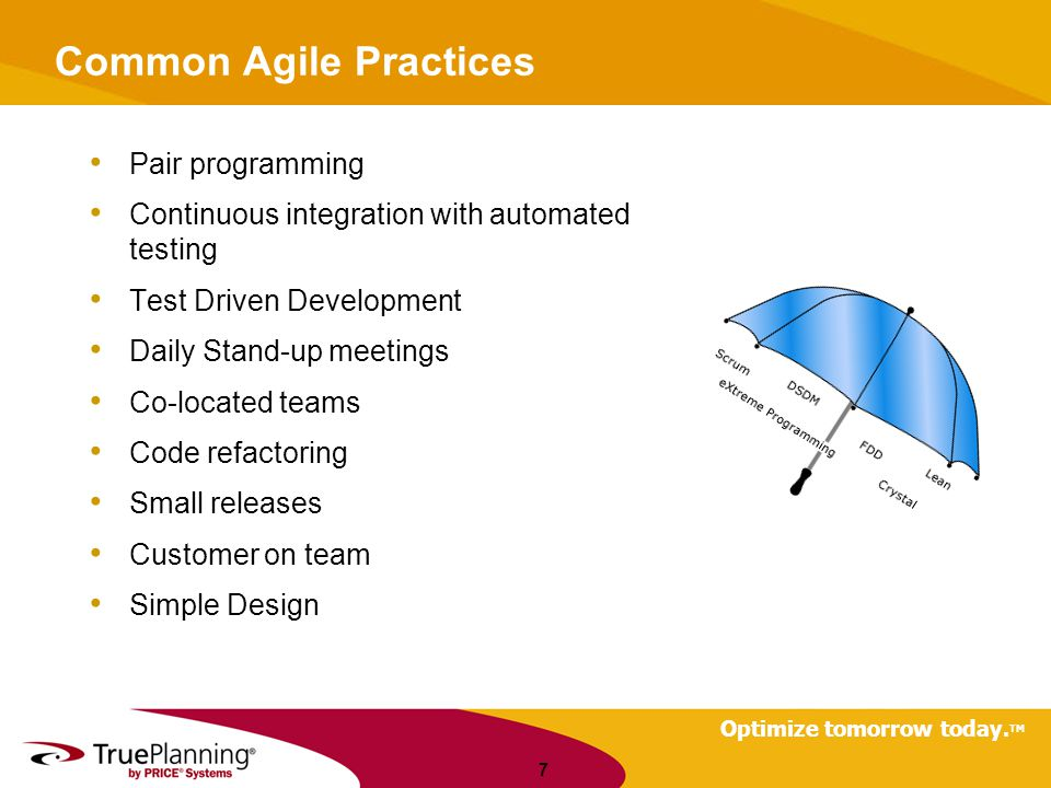Common Agile Practices