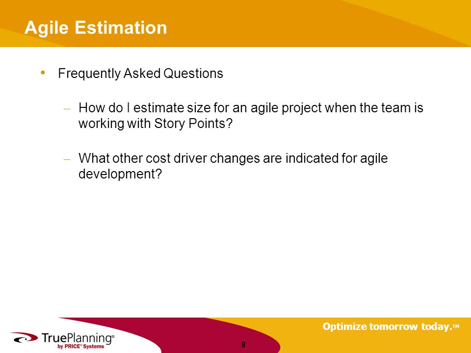 Agile Estimation Frequently Asked Questions